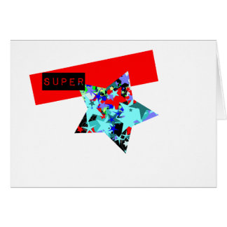 Retro Superstar In Day-Glo Greeting Card