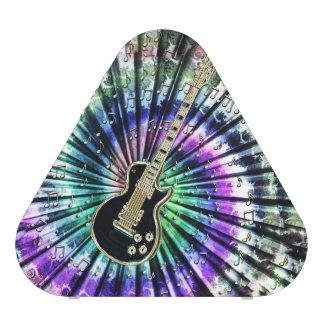 Retro Tie-Dye Electric Guitar Music Speaker