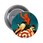 Retro Vintage Kitsch Pulp Hot Stories Magazine 6 Cm Round Badge