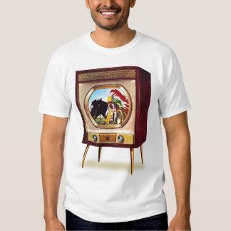 Retro Vintage Kitsch TV Color Television Set Tees