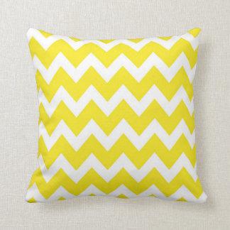 Retro YELLOW Zig Zag Pattern Throw Cushions
