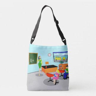 Retrp Teacher All-Over Print Tote Bag