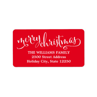 Return Address Labels | Script Merry Christmas