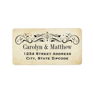 Return Address Labels | Vintage Flourish