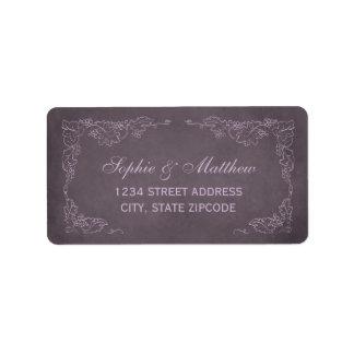 Return Address Labels | Vintage Vineyard Design