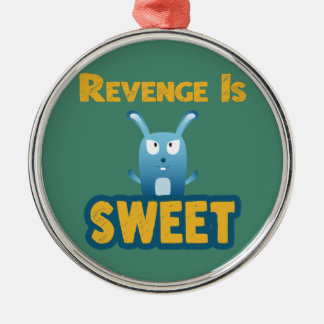 Revenge Is Sweet Silver-Colored Round Decoration