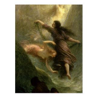 Rheingold, first scene, 1888 postcard