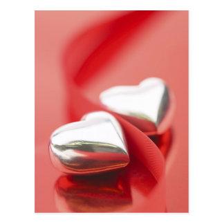 Ribbon Hearts Postcard
