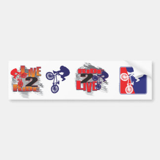 Ride 2 Live BMX Rider Bumper Sticker