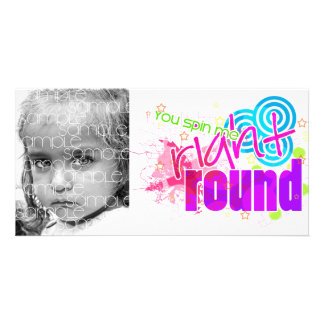 RIGHT ROUND PERSONALIZED PHOTO CARD