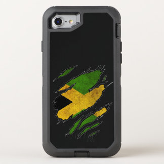 Ripped Flag of Jamaica OtterBox Defender iPhone 7 Case