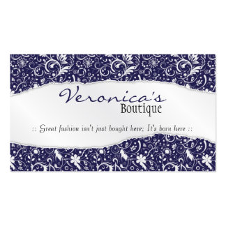 Ripped Floral Pattern - Blue Pack Of Standard Business Cards