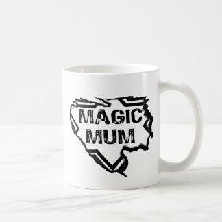 Ripped  Star- Super Magic Mum - Black Basic White Mug