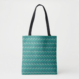 Rippled Aqua Tote Bag