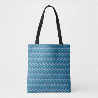 Rippled Blue Tote Bag