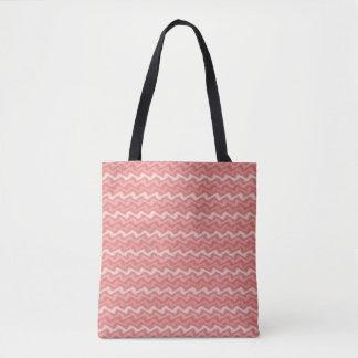 Rippled Pink Tote Bag