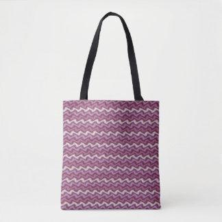 Rippled Purple Tote Bag