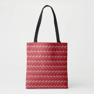 Rippled Red Tote Bag