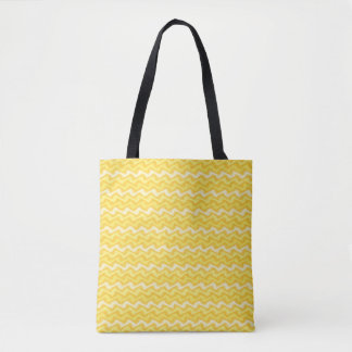 Rippled Yellow Tote Bag