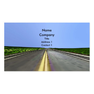 Road Travel - Business Pack Of Standard Business Cards