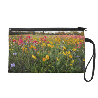 Roadside wildflowers in Texas, spring Wristlet Purses