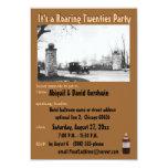 Roaring 20's Prohibition Theme 9 Cm X 13 Cm Invitation Card
