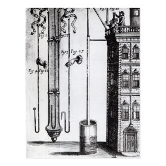 Robert Boyle's development of the water pump Postcard