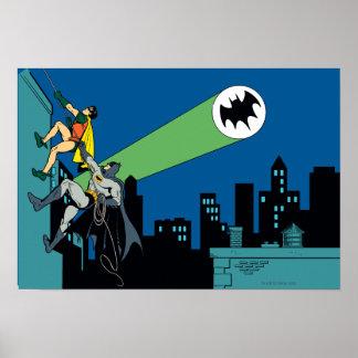 Robin And Batman Climb Poster