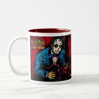 Rock n Roll Maniac Rockabilly Two-Tone Mug