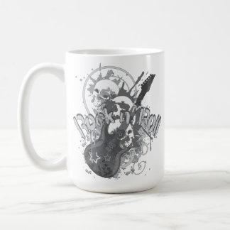 Rock n' Roll Skulls Basic White Mug