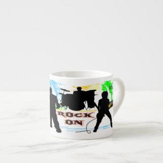 Rock On - Rock n' Roll Band Espresso Mug