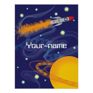 Rocket Personalized Poster