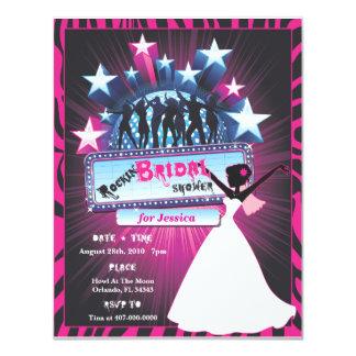 Rockin Bridal Shower 11 Cm X 14 Cm Invitation Card
