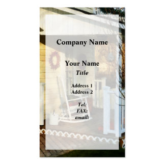 Rocking Chair on Side Porch Pack Of Standard Business Cards