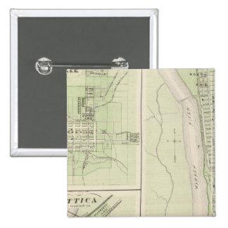 Rockville, Parke Co, Montezuma, Parke Co 15 Cm Square Badge