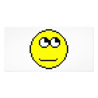 Rolling Eyes Emoticon Customised Photo Card