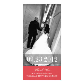 ROMANCE IN RED | WEDDING THANK YOU CARD PICTURE CARD