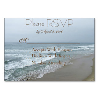 Romantic Beach RSVP Card Inserts Table Cards