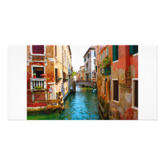 Romantic places in Venice with channels and beauti Picture Card