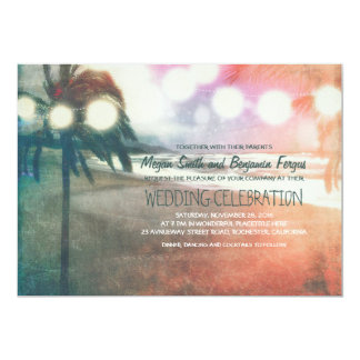Romantic Sunset Beach Lanterns Wedding 13 Cm X 18 Cm Invitation Card
