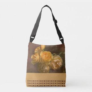 Romantic Yellow Roses Design Cross Body Bag Tote Bag