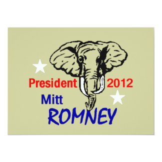 Romney 2012 Invitation