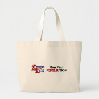 Ron Paul Campaign For Liberty Revolution Jumbo Tote Bag