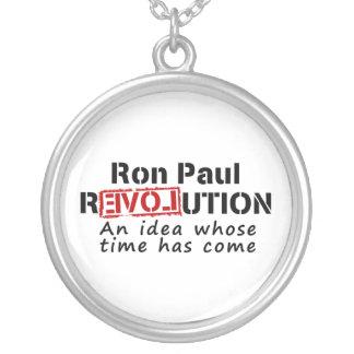 Ron Paul rEVOLution An Idea Whose Time Has Come Round Pendant Necklace