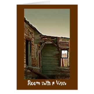 """""""Room with a View""""  blank card"""