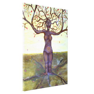 """Rooted"" Tree Goddess Art Gallery Wrap Canvas"