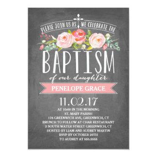 Rose Banner Chalkboard | Baptism Invitation