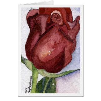 Rose Bud Notecard Note Card