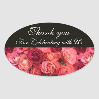 ROSE FIELD ,Thank you Oval Sticker