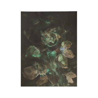 Rose flower. Gothic Wood Poster